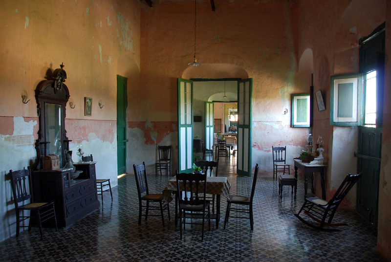 Living quarters in Hacienda Yaxcopoil in west Yucatan, Mexico