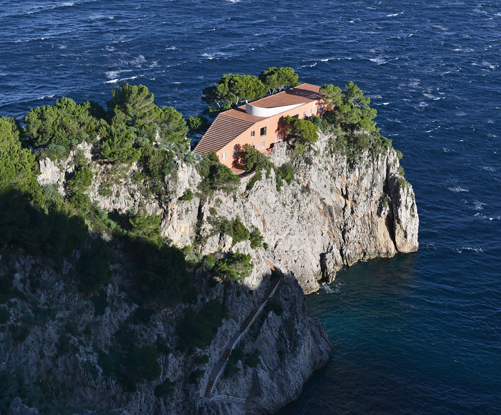 Villa Malaparte (1937) at Punta Massullo on Capri, Italy