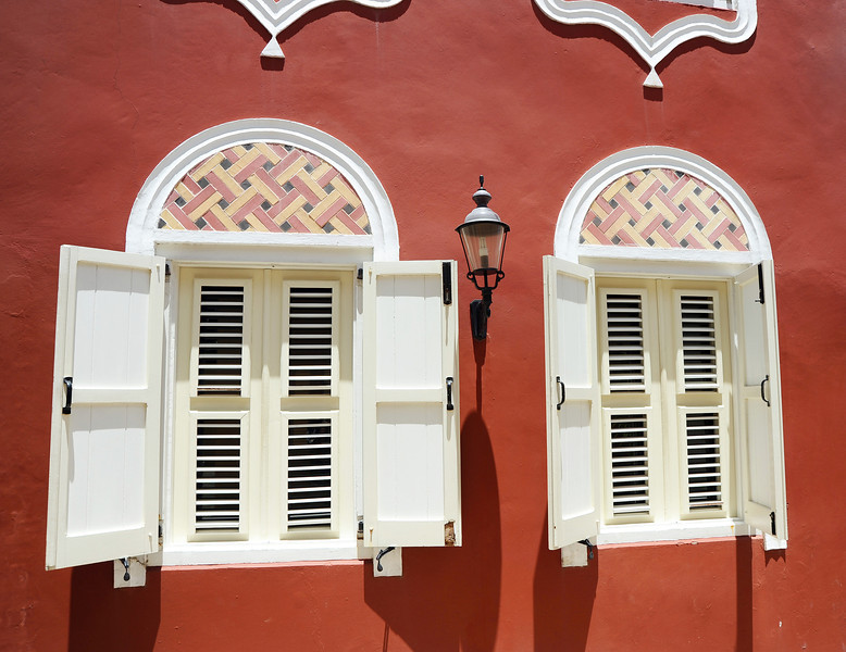 Restored colonial building in Otrobanda, Curaçao
