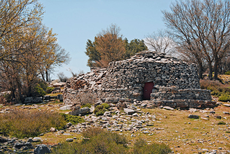 Traditional shepherds' hut (mitato) in the mountains of central Crete, Greece