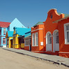 Bright coloured homes in the coastal town of Luderitz, Namibia