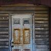 Derelict porch of wooden home in Pennsylvania, USA
