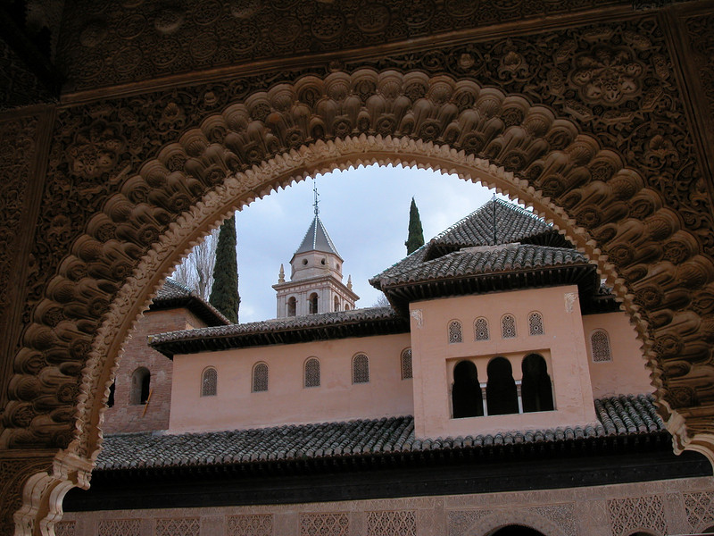 Arch in the Alhambra palace in Granada, Spain