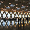 Modern airport terminal building at Marrakesh airport, Morocco