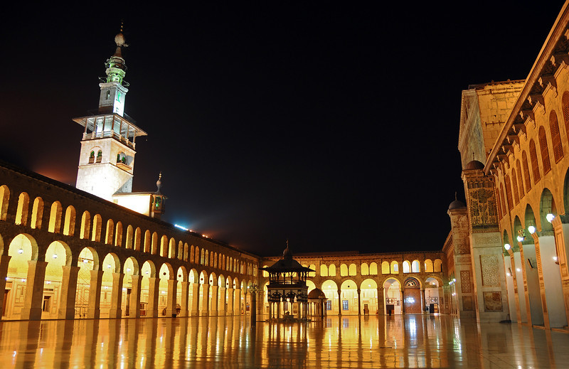 After hours at the courtyard of the Umayyad Mosque, Damascus