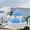 Cycladic-style villa and chapel on Mykonos, Greece