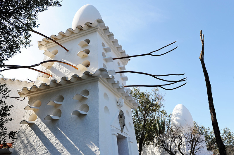 Pigeon house in the garden of Dali's home in Portlligat, northeast Spain
