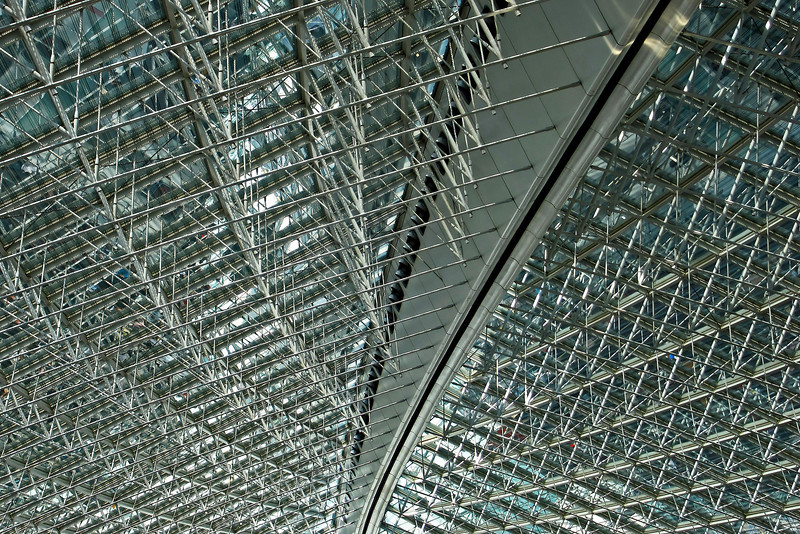 Roof of passenger terminal at Charles de Gaulle airport, Paris
