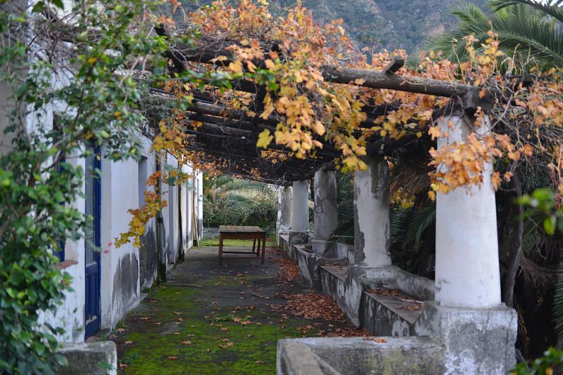 Traditional villa with open patio on Salina island, Italy