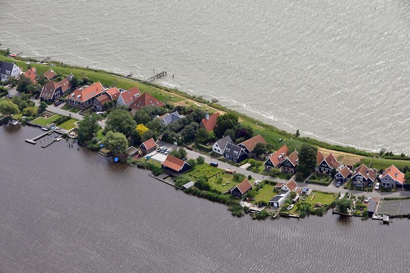 Village of Uitdam along the western part of the IJsselmeer, The Netherlands