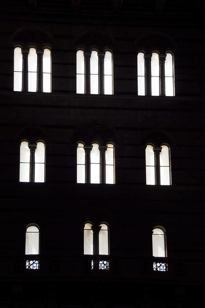 Windows in the Duomo cathedral in Pisa, Italy