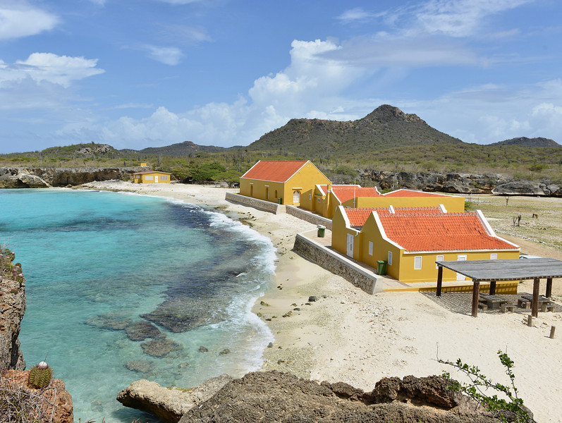 Restored buildings of the old Slagbaai plantation, Bonaire