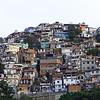 Favela covering hill in the Laranjeiras area of Rio de Janeiro, Brazil