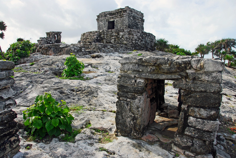 Part of temple complex at Tulum in Yucatan, Mexico