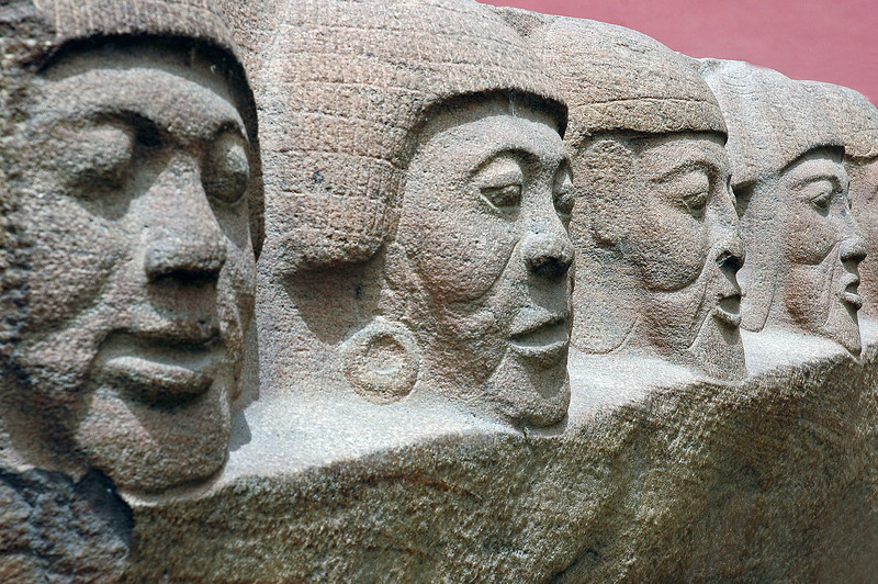 Faces frozen in stone, Egypt