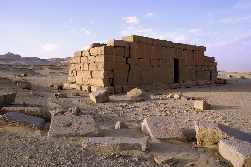 Qasr al Sagha temple in the desert north of Fayum, Egypt