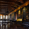 Old colonial library inside the Santo Domingo convent in Lima, Peru
