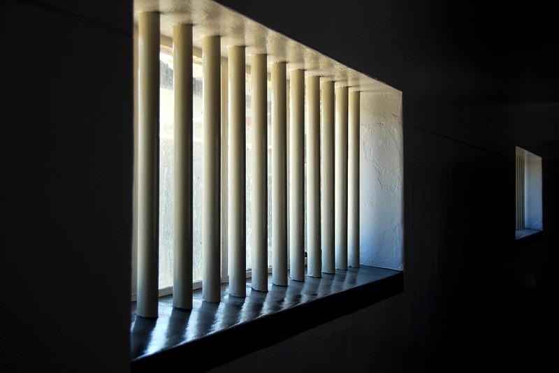 Windows in Robben Island prison, South Africa