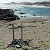 Crosses along the Skeleton Coast, Namibia
