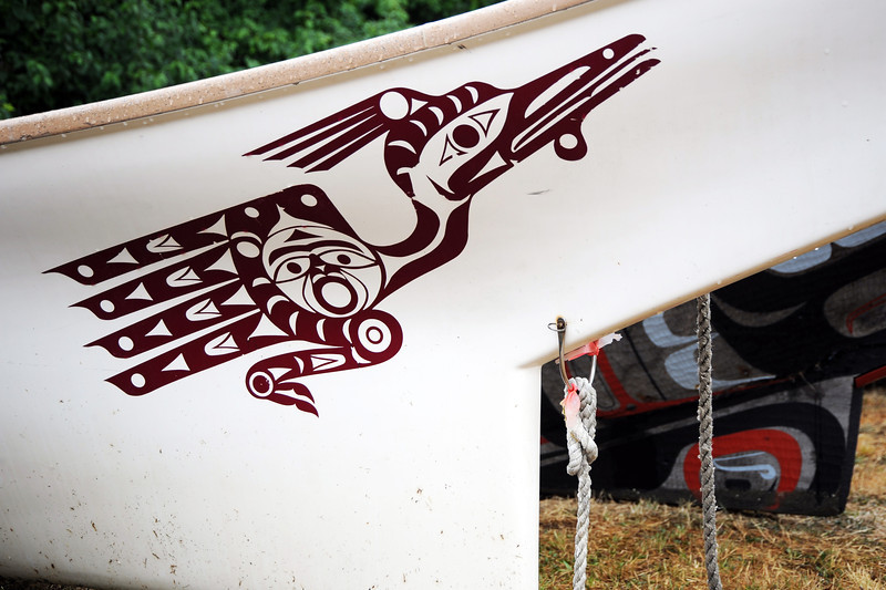 First Nation canoe on Vancouver Island, Canada