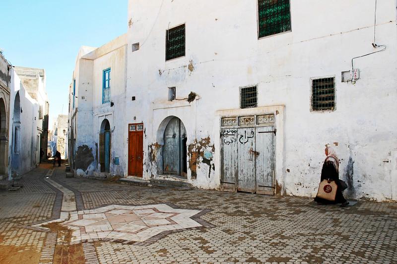 Old medina in Kairouan, central Tunisia