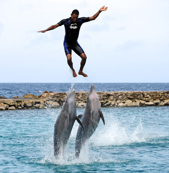 Flying high in powerful push-up, Curaçao