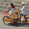 Heading for the open air market in Izamal, Mexico