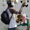 Street seller in Douala, Cameroon