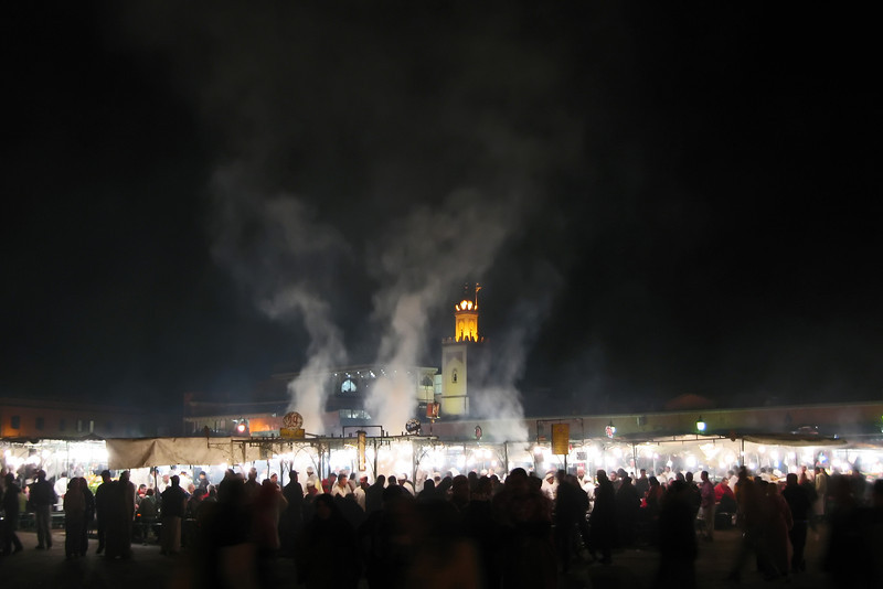 Al fresco foodmarket at Djemaa el Fna square in Marrakesh, Morocco