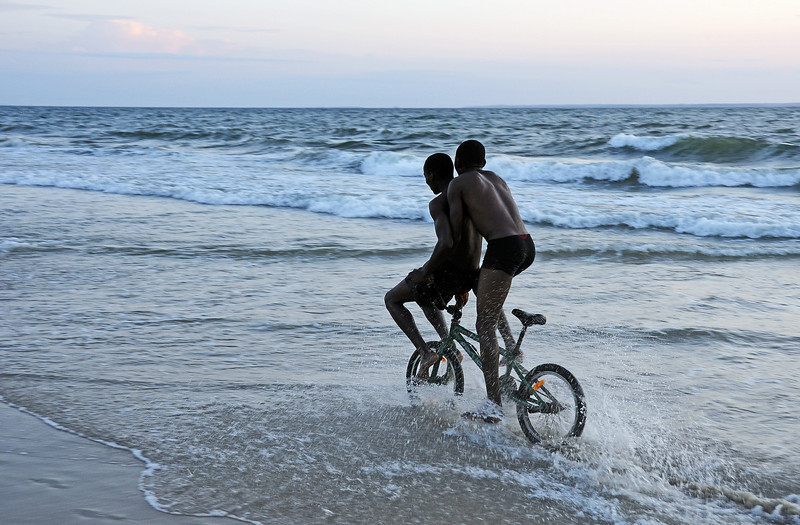 Weekend fun on the beach, Gabon