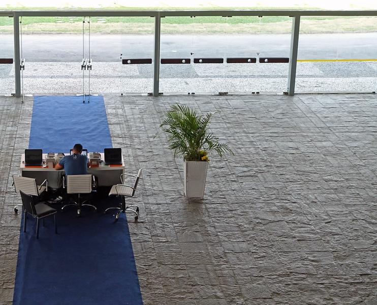 Congress reception desk in Rio de Janeiro, Brazil