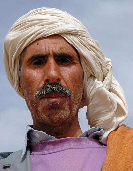Shepherd near Tozeur, Tunisia