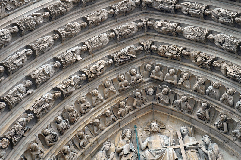 Holy gatekeepers at the Notre Dame cathedral in Paris, France