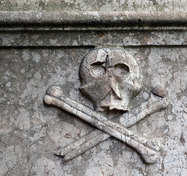Limestone panel on outer wall of Serbian Orthodox church in Szentendre, Hungary