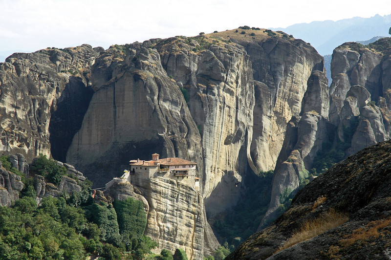 Greek Orthodox monastery at Meteora, Greece