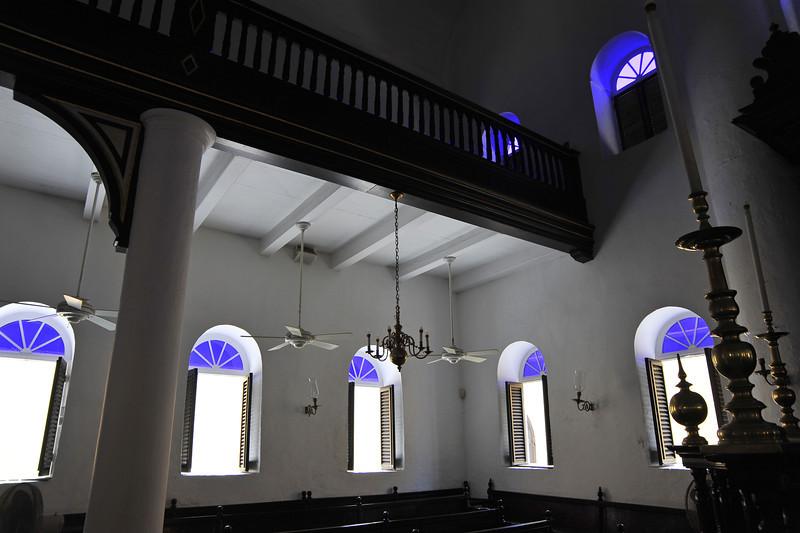 Interior of Mikvé Israel - Emanuel synagogue in Willemstad, Curaçao