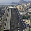 Modern cathedral of São Sebastião in Rio de Janeiro, Brazil