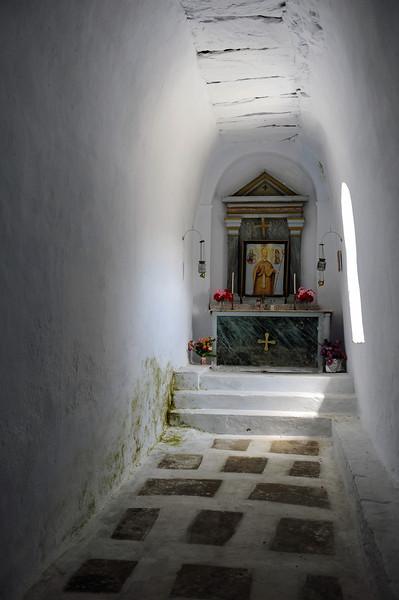 Vaulted rural chapel near Tarabados on Tinos island, Greece