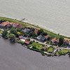 Village of Uitdam along the western part of the IJsselmeer, The Netherlands