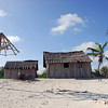 Abandoned beach huts in Yucatan, Mexico