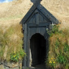 Entrance to reconstructed Viking-age farmhouse at Stöng, Iceland