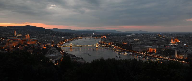 Twilight over Budapest, Hungary
