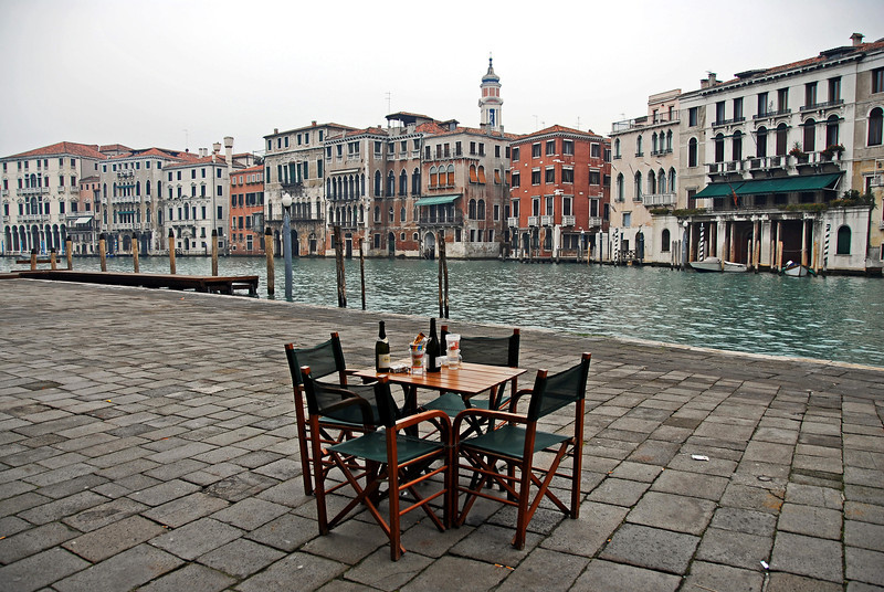 Early morning on 1st January in Venice, Italy