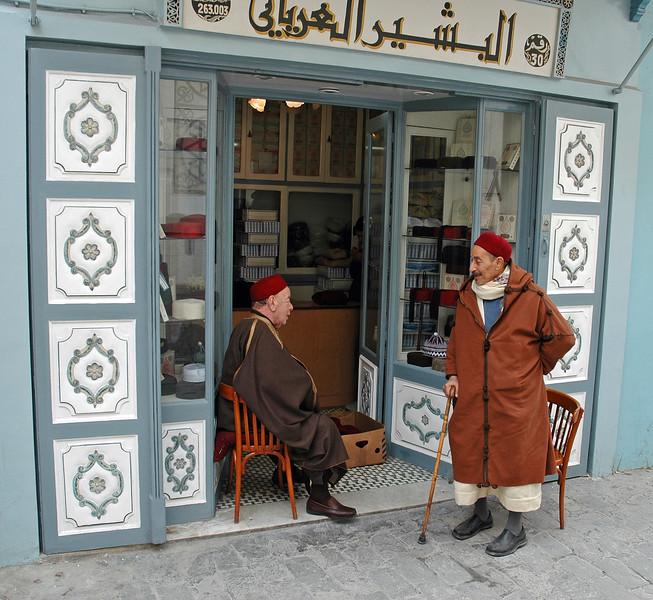 Street talk in Tunis city, Tunisia