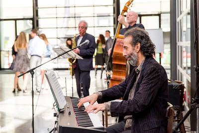 Man playing piano at a Bat Mitzvah