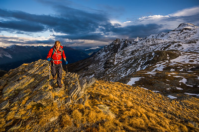 Evening light by Bivouac Anghileri, Piz Bernina, Italy