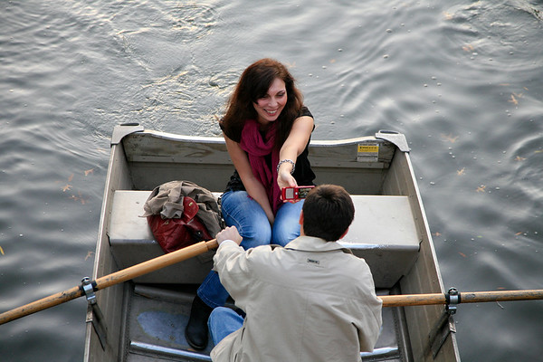 Row boaters, Central Park, NYC.