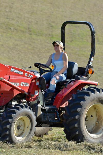 Felicia on the farm