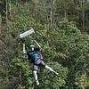 Crystal Diaz Lewis BASE jumper at Bridge Day 2016 New Rriver <br /> gorge parachute