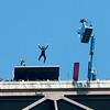Nataliya Povroenyk BASE jumper at Bridge Day 2016 New River Gorge